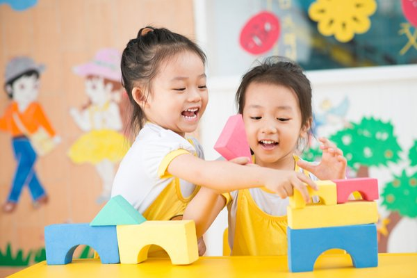 Children Playing In Childcare Centre