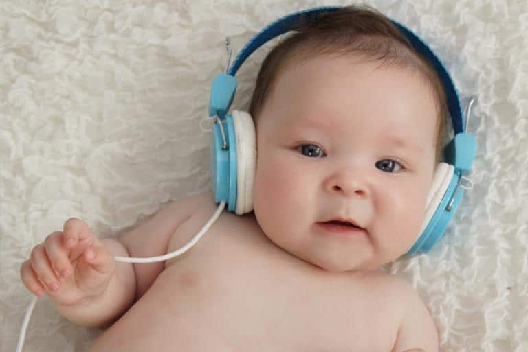 Baby Listening to Some Music