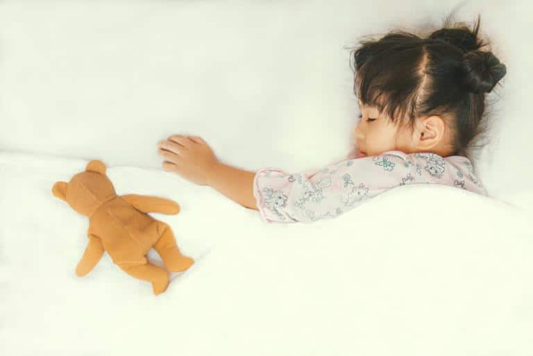 Child Sleeps With A Teddy bear