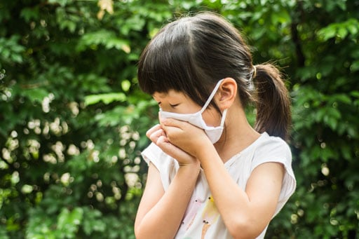 If you or your little one have any respiratory symptoms, it is important to wear a mask
