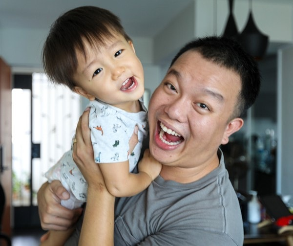 Shaun Pang a Strength Coach with his Son Chase